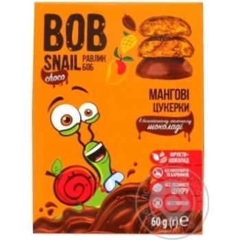 Конфеты Bob Snail манговые в молочном шоколаде без сахара 60г - купить, цены на Метро - фото 1