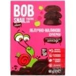 Конфеты Bob Snail яблочно-малиновые в черном шоколаде без сахара 60г