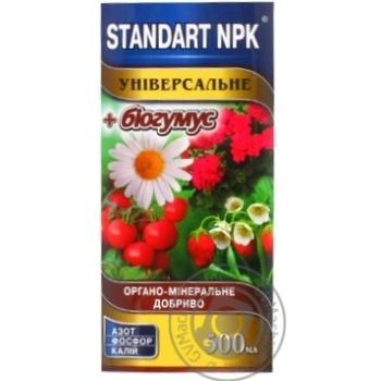 Удобрение Standart NPK органо-минеральное универсальное 0,5л - купить, цены на Ашан - фото 1