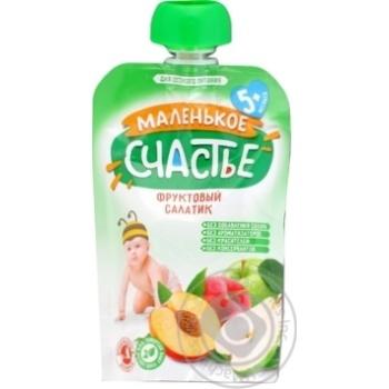 Пюре Маленькое счастье Фруктовый салатик для детей с 5 месяцев 90г - купить, цены на Таврия В - фото 1