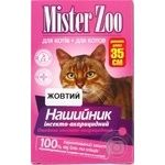 Ошейник Mister Zoo желтый инсекто-акарицидный для котов 35см