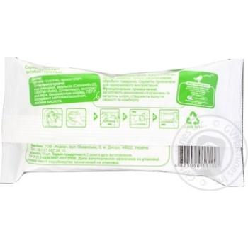 Вологі серветки Ашан антибактериальные 15шт - купить, цены на Ашан - фото 2