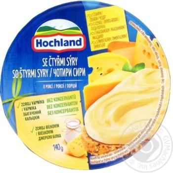 Сир плавлений Hochland чотири сира 140г - купити, ціни на Novus - фото 1