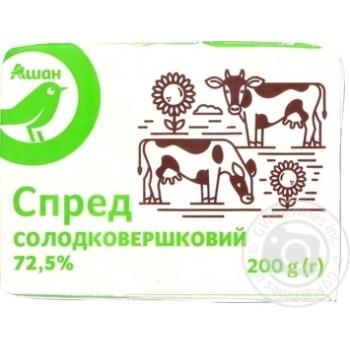 Спред Ашан сладкосливочный 72,5% 200г - купить, цены на Ашан - фото 5