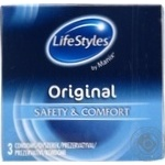 Презервативы LifeStyles Original латексные 3шт