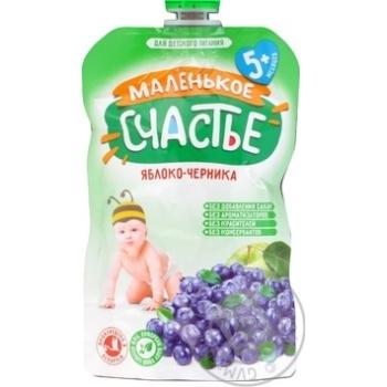 Скидка на Пюре Маленькое счастье Яблоко-Черника для детей с 5 месяцев 90г