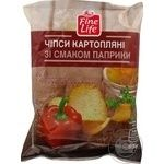 Чипсы Fine Life картофельные со вкусом паприки 65г