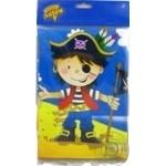 Скатерть Веселая затея полиэтиленовая Маленький пират 130х180см