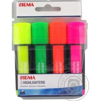 Набір маркерів Sigma 4шт кольорові