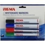 Маркер для дошки Sigma 2мм 4шт - купити, ціни на Метро - фото 1