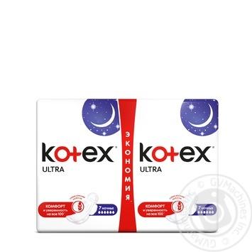 Прокладки Kotex Ультра Найт сеточка 14шт - купить, цены на Метро - фото 1