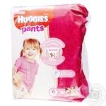 Пiдгузки-трусики Хаггіс для дівчаток (15-25кг) 30шт №6