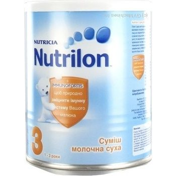 Смесь молочная Нутриция Нутрилон 3 сухая детская с 1 до 3 лет железная банка 400г Голландия