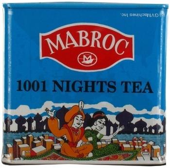 Чай Маброк 1001 ночь черное 250г железная банка