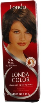 Крем-фарба для волосся Londa Технологія змішування тонів №25 Темно-попелястий