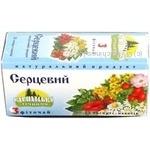 Herbal tea Karpatskaya Lechebnitsa 3 for heart berries and herbs 25x0.8g teabags Ukraine