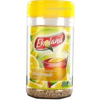 Скидка на Чайный напиток Эколэнд Лимонный растворимый с витамином С 350г пластиковая банка Польша