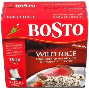 Суміш рису Bosto дикий mix 4*62,5г