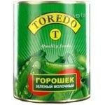 Vegetables pea Toredo green pea 850ml can Germany