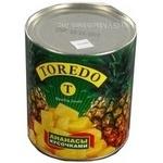 Fruit pineapple Toredo pieces 850ml can Ukraine