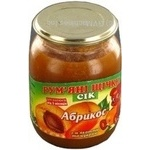 Juice Rumyanye shchechki apricot for children 250g glass jar Ukraine