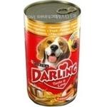 Консерва для собак Darling Качка,печінка 1,2кг