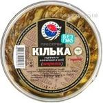 Fish Zahid-riba in oil 200g hermetic seal Ukraine
