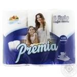 Бумажное полотенце Premia 3 слоя 6шт - купить, цены на МегаМаркет - фото 1
