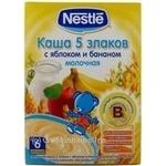 Каша детская Нестле 5 злаков с яблоком и бананом молочная с 6 месяцев 250г Россия