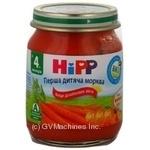 Пюре Хипп Первая детская морковь без соли для детей с 4 месяцев стеклянная банка 125г Венгрия