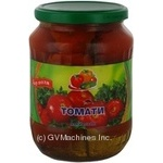 Vegetables tomato Dar polya pickled glass jar Ukraine