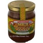 Honey Zlatomed polyfleur 700g glass jar Ukraine
