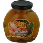 Fruit peach Ruta half 580ml glass jar Ukraine