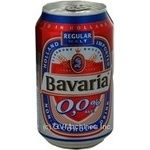 Beer Bavarіa Premium non-alcoholic 0% 330ml can Holland