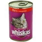 Консервы для кошек Whiskas говядина 400г