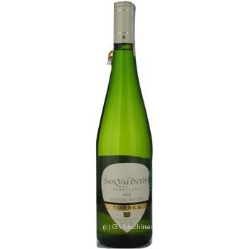 Вино Torres San Valentin Parellada белое полусухое 11% 0,75л - купить, цены на Novus - фото 3