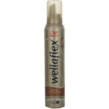 Wellaflex Foam for styling hair Glitter & Fixation superpower 200ml
