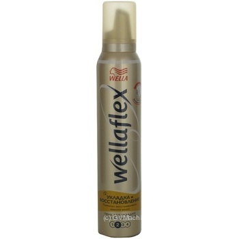 Wella Wellaflex Mousse for Hair Styling and Restoration Strong Fixation 200ml