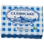 Масло Селянське сладкосливочное 73% 200г Украина
