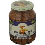 Mushrooms chanterelles Charme pickled 920g glass jar Ukraine