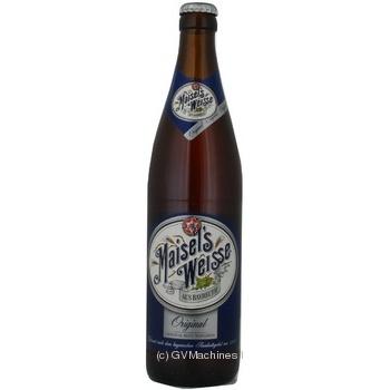Пиво Maisel's Weisse Original янтарное нефильтр. 0,5л