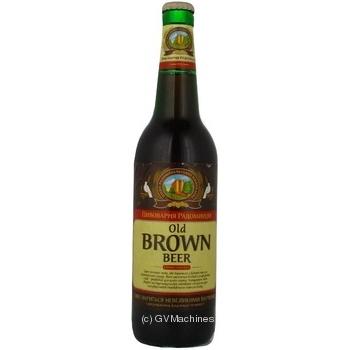 Пиво Радомышль Олд браун темное 5% 500мл стеклянная бутылка Украина