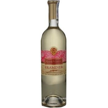 Вино траминер Рэд энд вайт белое полусухое 750мл стеклянная бутылка Молдавия
