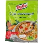 Суп овочевий з рисом Тьотя Соня 65г