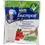 Pap Bystrov oat strawberries with cream 40g Russia