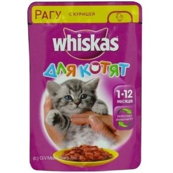 Корм Whiskas для котят с курицей в соусе 100г - купить, цены на Фуршет - фото 6