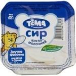 Сир Тьома кисломолочний 5% з 3 років пластиковий стакан 100г Україна