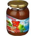 Puree Rumyanye shchechki rose hip with apple for children from 4 months 250g glass jar Ukraine