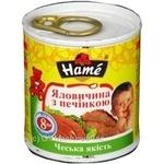 Пюре Хаме говядина с печенью для детей с 8 месяцев 100г