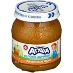Puree Agusha apricot for children from 6 months 115g glass jar